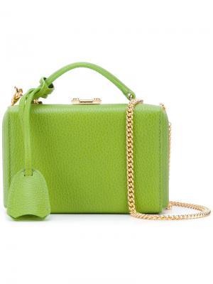 Маленькая сумка через плечо Mark Cross. Цвет: зелёный
