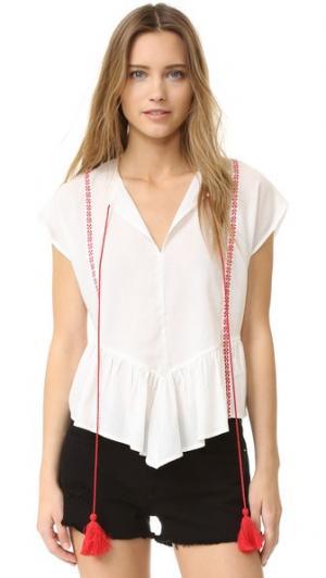 Блуза Monaco PAMPELONE. Цвет: белый/красный