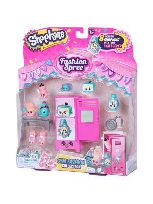 Игровой набор Шопкинс  Модная лихорадка Gym Fashion Moose. Цвет: розовый