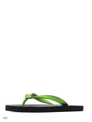 Шлепанцы Effa. Цвет: черный, салатовый