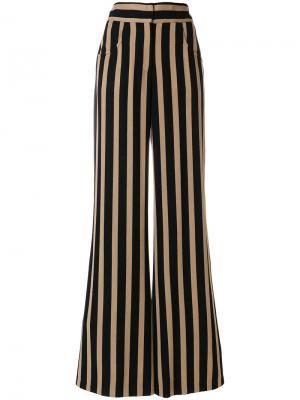 Расклешенные брюки в полоску Etro. Цвет: чёрный