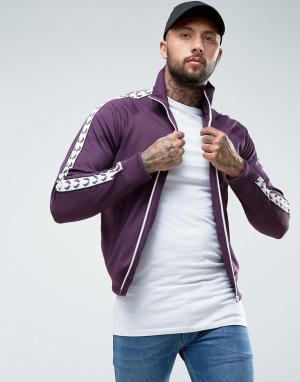 Fred Perry Фиолетовая спортивная куртка с отделкой лентой Sports Authe. Цвет: фиолетовый