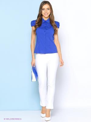 Блузка Stets. Цвет: голубой