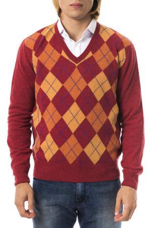 Пуловер UominItaliani. Цвет: red and orange