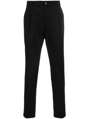 Классические брюки со складками Department 5. Цвет: чёрный