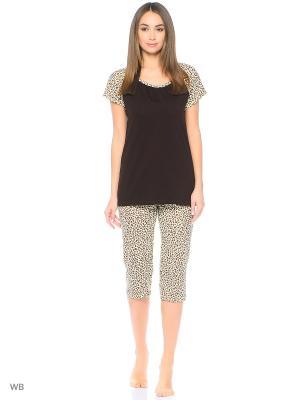 Пижама Magwear. Цвет: темно-коричневый, коричневый