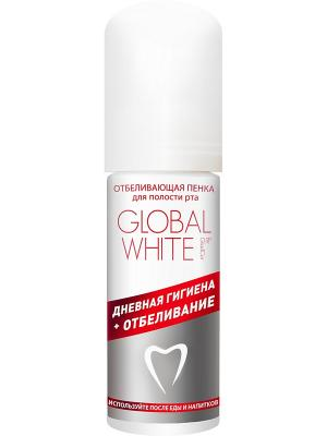 Пенка отбеливающая для полости рта глобал вайт Global White. Цвет: белый, красный