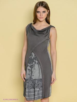Платье Angels Never Die. Цвет: темно-серый, серый