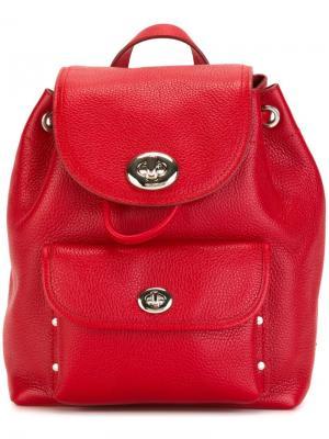 Маленький рюкзак с откидным клапаном Coach. Цвет: красный