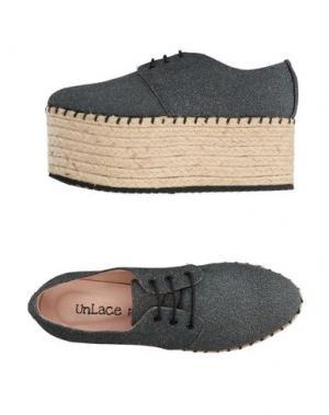 Обувь на шнурках UNLACE. Цвет: серый