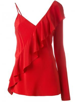 Блузка с одним рукавом Diane Von Furstenberg. Цвет: красный