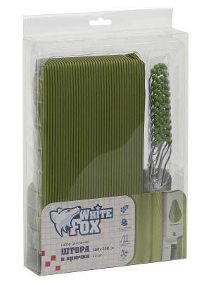 Штора для ванной WHITE FOX. Цвет: зеленый