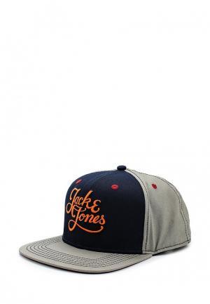 Бейсболка Jack & Jones. Цвет: серый