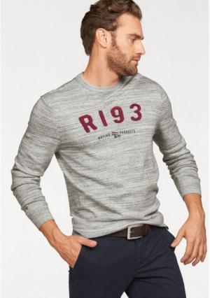 Пуловер Rhode Island. Цвет: серый меланжевый