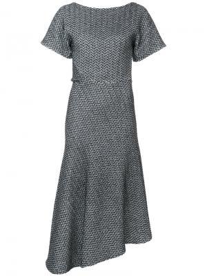 Платье с узором Spider Web Maticevski. Цвет: чёрный