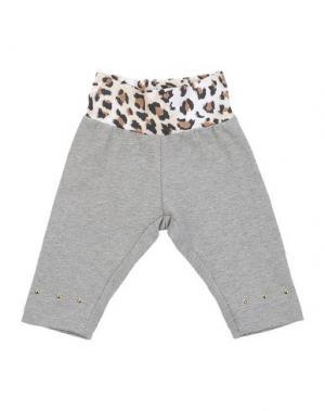 Повседневные брюки MONNALISA NY & LON. Цвет: серый