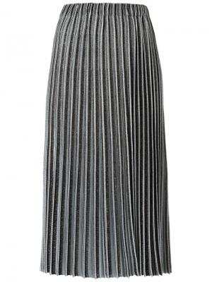 Midi knitted skirt Gig. Цвет: металлический
