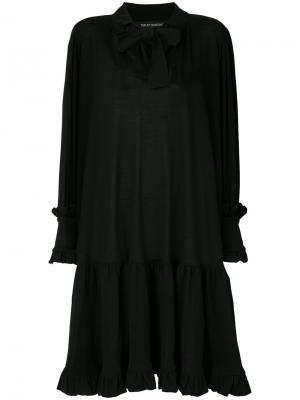 Расклешенное платье с завязками Ter Et Bantine. Цвет: чёрный