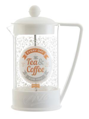 Чайник с поршнем Viva - Tea&Coffee White Elan Gallery. Цвет: белый