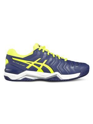 Спортивная обувь GEL-CHALLENGER 11 CLAY ASICS. Цвет: темно-синий, желтый, серебристый