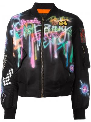 Куртка бомбер с рисунком Marc Jacobs. Цвет: чёрный