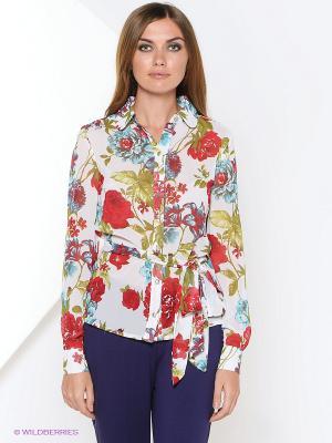 Блузка RUXARA. Цвет: белый, красный