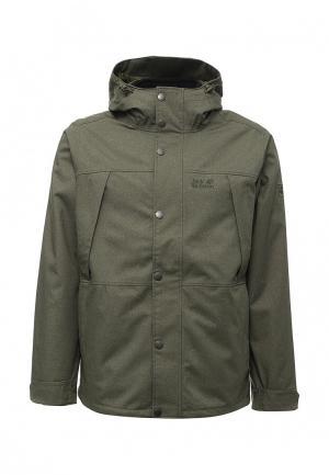 Куртка утепленная Jack Wolfskin. Цвет: хаки
