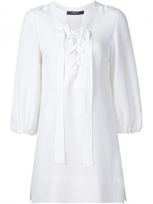 Платье с крупной шнуровкой Derek Lam. Цвет: белый