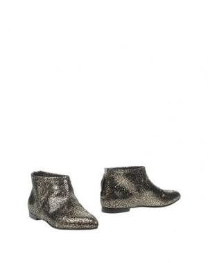 Полусапоги и высокие ботинки KALLISTÈ. Цвет: платиновый