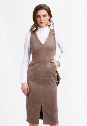 Платье Audrey Right. Цвет: бежевый
