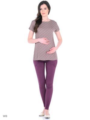 Блузка для беременных 40 недель. Цвет: светло-коричневый, розовый