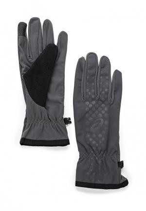 Перчатки ASICS. Цвет: серый