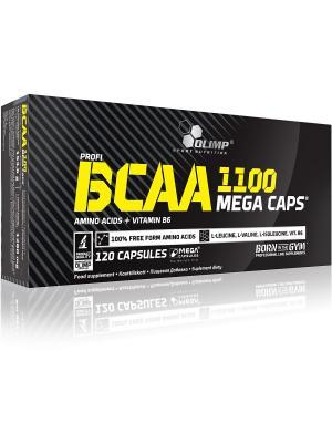 Аминокислоты Olimp BCAA Mega Caps 120 кап Nutrition. Цвет: черный