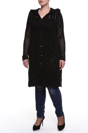 Пальто Текстильная Мануфактура. Цвет: черный