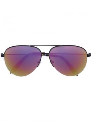Солнцезащитные очки авиаторы Classic Victoria Beckham. Цвет: чёрный