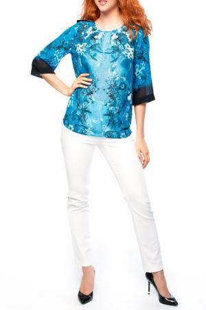 Блуза MoNaMod. Цвет: синий