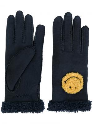 Перчатки Happy Agnelle. Цвет: синий