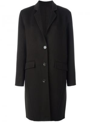 Однобортное пальто Harmony Paris. Цвет: зелёный