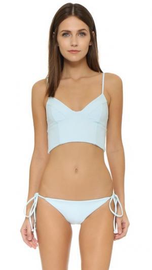 Лиф бикини Jess Tori Praver Swimwear. Цвет: серый
