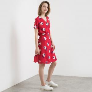 Платье с рисунком MADEMOISELLE R. Цвет: красный наб. рисунок