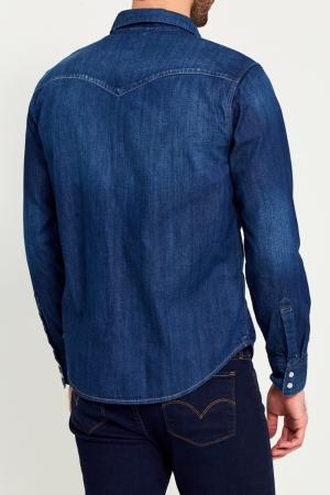Синяя джинсовая рубашка Levi's®. Цвет: синий