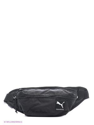 Сумка PUMA Academy Waist Bag. Цвет: черный