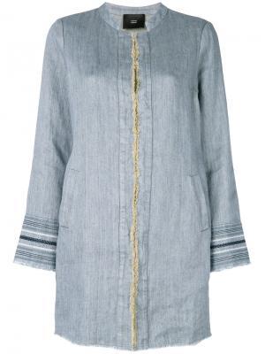 Открытый пиджак Steffen Schraut. Цвет: синий