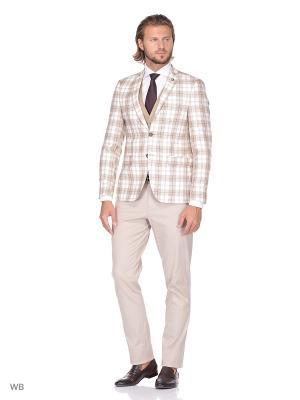 Пиджак BAWER. Цвет: светло-коричневый