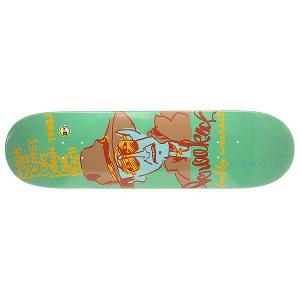 Дека для скейтборда  Worrest In Trouble 32.56 x 8.38 (21.3 см) Krooked. Цвет: зеленый