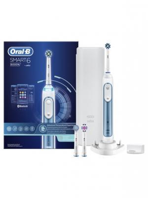 Электрические зубные щётки (POC)  ORAL-B Э/щетка Smart 6/D700.534.5XP. Цвет: серо-голубой, белый