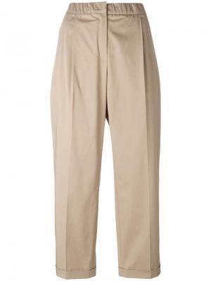 Укороченные брюки Odeeh. Цвет: коричневый