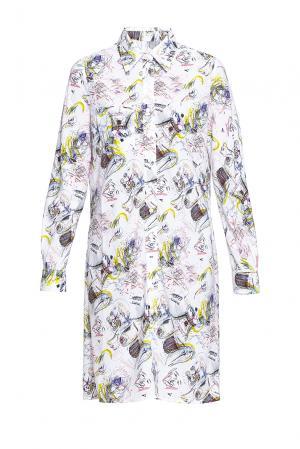 Платье-рубашка с абстрактным принтом 190528 Cyrille Gassiline. Цвет: разноцветный