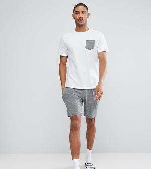 Brave Soul Пижамный комплект с шортами. Цвет: белый