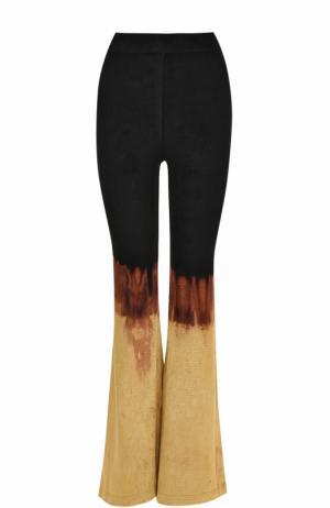 Расклешенные брюки с принтом Balmain. Цвет: разноцветный